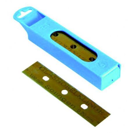 Pack of 25 LEWI 10 cm blades for glass scraper