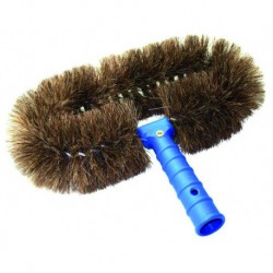 LEWI natural horsehair oval brush
