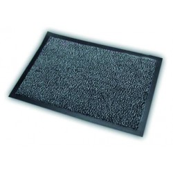 ALDAIA fabric doormat in grey