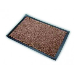 ALDAIA fabric doormat in brown