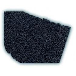 Felpudo bucles de vinilo negro