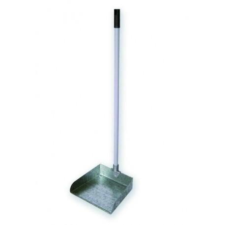 Metallic dustpan with handle