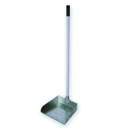 Metallic dustpan with handle
