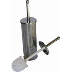 CROMADO metallic toilet brush and holder