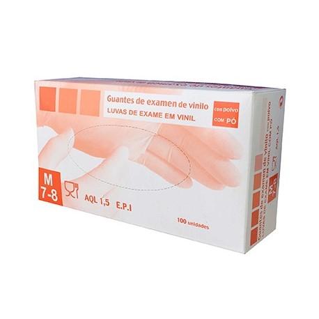 Package of 100 vinyl gloves