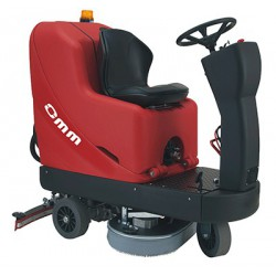 OMM STILE-800 battery-powered ride on scrubber-dryer