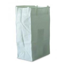 Saco Branco Plastificado 120 litros Velcro (MAXI II)