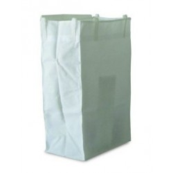 White laminated 120-litre sack with Velcro (MAXI II)
