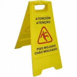 "Plastic ""Wet floor"" sign"