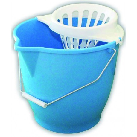 13-litre round bucket with wringer