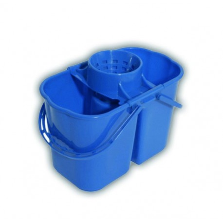 Twin compartment 16-litre bucket with wringer