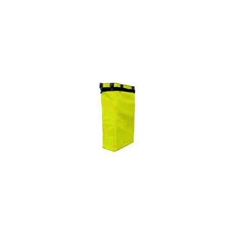 Canvas sack in yellow for 120-litre bags