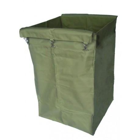 Laminated canvas sack in beige