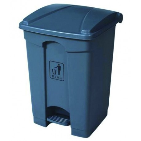 68-litre trash bin with lid and pedal
