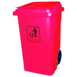 120-litre trash bin with wheels, lid, and pedal