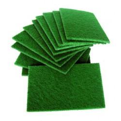 Pack de 10 estropajos cortados de fibra verde extra