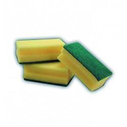 Pack de 6 estropajos salvauñas de fibra verde