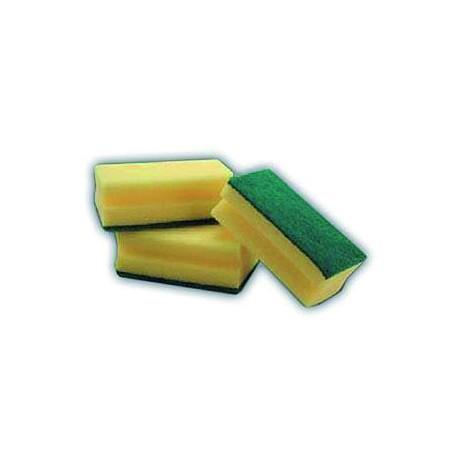 Pack de 6 esfregões salva-unhas de fibra verde