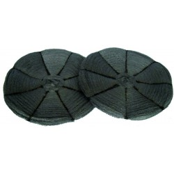 Steel wool pads for rotary machines