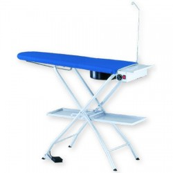 Ironing board with temperature and suction