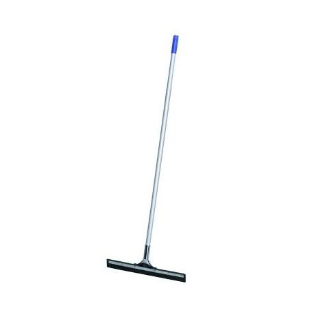 Metallic floor squeegee with handle