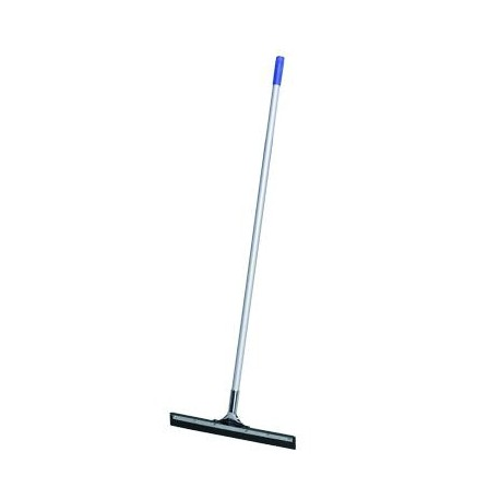 Metallic floor squeegee with handle