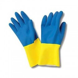 Reinforced double layer latex/neoprene GLOVES