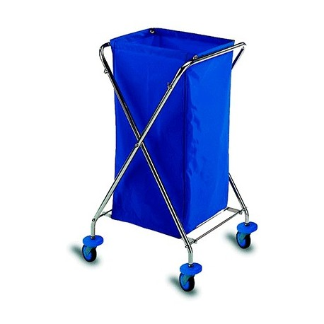 120 L foldable chrome plated trolley