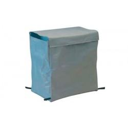 Saco de lavandaria de lona cinza de 200 litros