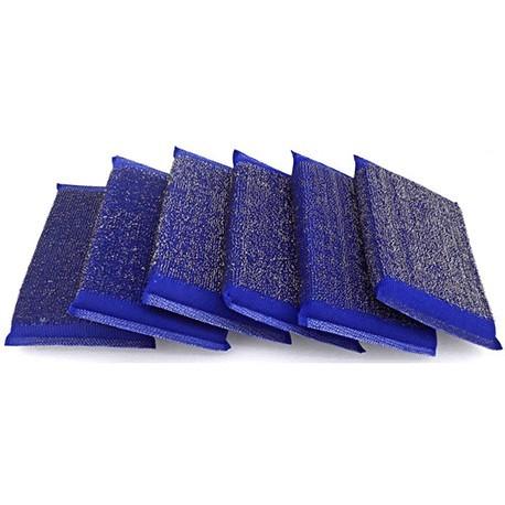 Pack de 6 estropajos de esponja inox