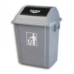 Swing lid square bin