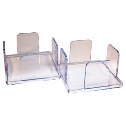 Pack 2 napkin holders 20x20 of transparent methacrylate