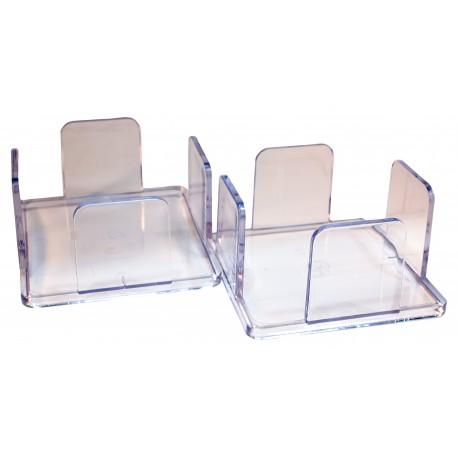 Pack 2 servilleteros 20x20 de metacrilato transparente