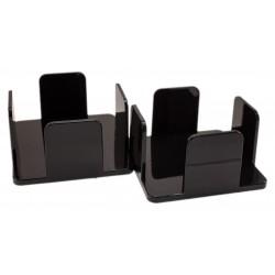 Pack 2 servilleteros 20x20 de metacrilato color negro