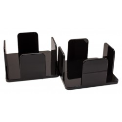 Pack 2 napkin holders 20x20 in black methacrylate