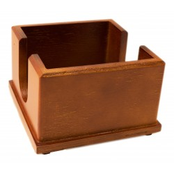 20x20 napkin holder in dark wood