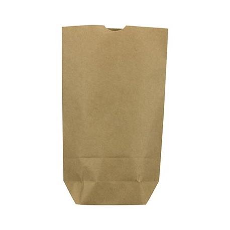 Caja 1000 bolsas papel kraft 45 gr 15x5x19 sin asas