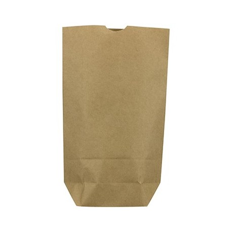 Caja 1000 bolsas papel kraft 45 gr 19x8x26 sin asas