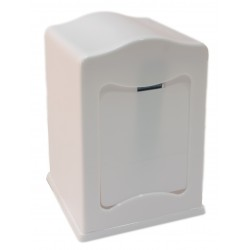 White plastic MINISERVICE napkin holder
