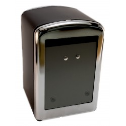 Napkin holder MINISERVICE metallic black body and chromed covers