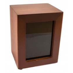 MINISERVICE napkin holder in dark brown wood