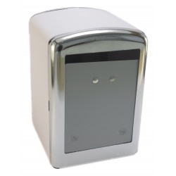 Napkin holder MINISERVICE metallic white body and chromed covers