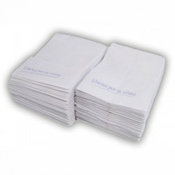17 x 17 miniservice tissue and sulphite napkins