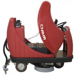 Battery-powered ride on scrubber-dryers